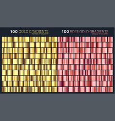 rose goldgolden gradientpatterntemplateset of vector image vector image