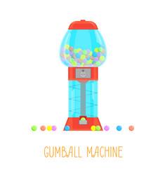 cartoon gumball machine vector image