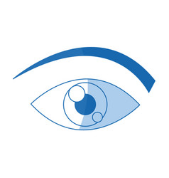 eye cartoon people watch image vector image vector image