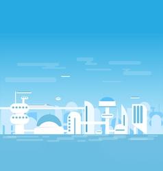 Futuristic white city vector image vector image