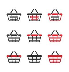 Shopping Basket Icon Set vector image vector image