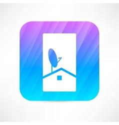 Antenna dish icon vector