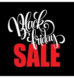 Black Friday Sale Calligraphic Design vector image vector image