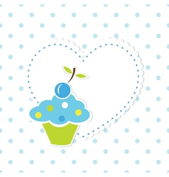 Blue cupcake background 2 vector