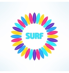 bright and colorful surfing background made vector image vector image