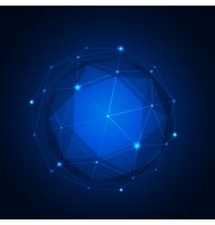Polygonal geometric figure vector image