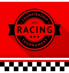 Racing stamp-15 vector image vector image