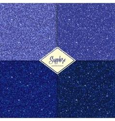 Set of glitter sapphire texture vector image