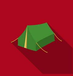 tent icon in flat style isolated on white vector image