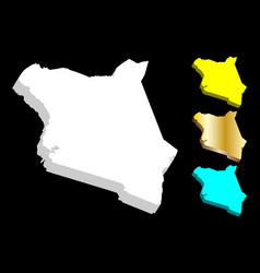 3d map of kenya vector