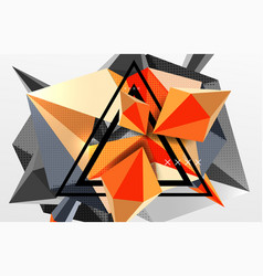 3d polygonal elements abstract background vector