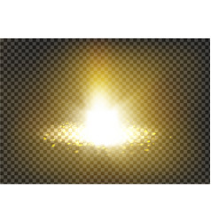 A golden light ray with vector