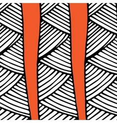 Abstract african pattern orange and black vector