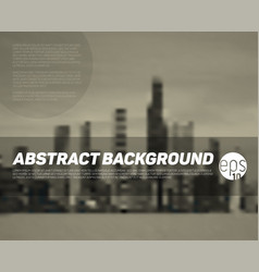 Abstract blurred city background vector