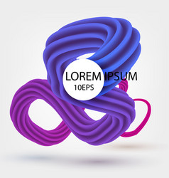 abstract spatial three-dimensional form colored vector image