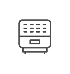 Air purifier line outline icon vector