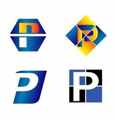 Alphabetical Logo Design Concepts Letter P vector