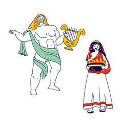 Ancient greek gods characters appolon or phoebus vector