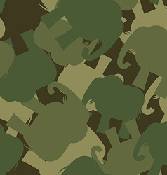 Army Pattern elephant Camo background of green vector image
