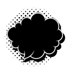 Black comic speech bubble vector