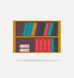 bookshelf isolated flat vector image