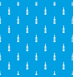 Bottle of vodka pattern seamless blue vector