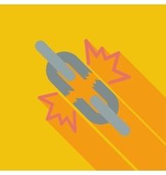 Broken connection single icon vector image