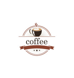 Coffee cafe emblem logo vector