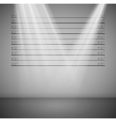 criminal lineup background vector image