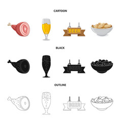 Design of pub and bar logo collection of vector