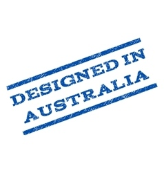 Designed In Australia Watermark Stamp vector
