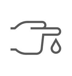 diabetes line icon vector image
