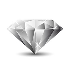 Diamond isolated on a white background vector