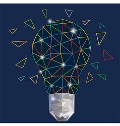 Digital Light bulb Colorful vector image