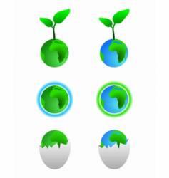 earth symbols vector image