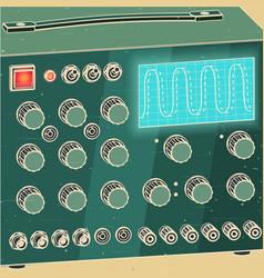 electronics diagnostic equipment retro vector image