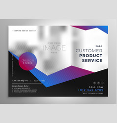 Elegant professional geometric brochure vector