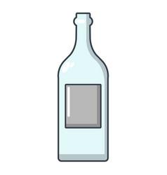 empty bottle icon cartoon style vector image