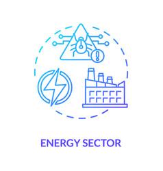 Energy sector concept icon vector