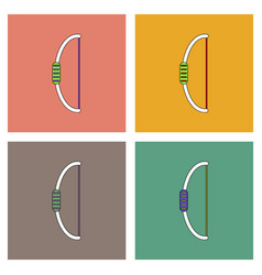 Flat icon design collection toy bow vector