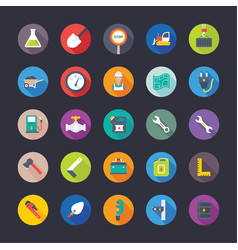 Flat icons industrial and construction tools vector