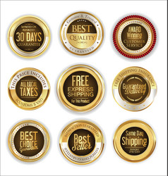 free shipping and best quality golden labels vector image