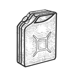Gasoline jerrycan sketch engraving vector