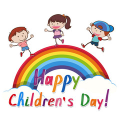 group of children with banner vector image
