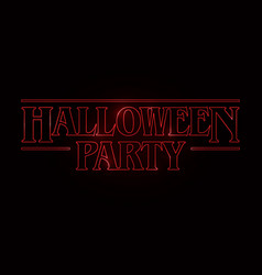halloween party text design halloween word vector image