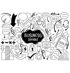 Hand drawn doodle elementals businesses ornaments vector