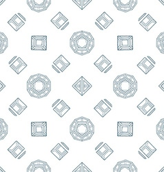 hand drawn polyhedrons seamless pattern vector image