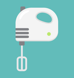 hand mixer flat line icon household and appliance vector image