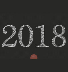 happy new year background with 2018 sign vector image
