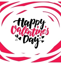 Happy Valentine s Day lettering Isolated vector
